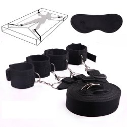 Bondage Toys Exotic bdsm bondage PU handkerchief love game fetish bondage leg open ankle cuff Sex Handcuff for women men couple