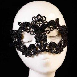 3PC Female Masquerade Mask Lace Flower 2016 Halloween Mask Black Cutout Sexy Mask
