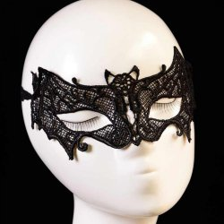1PC Halloween Masks Black Female Sexy Lace Mask Lady Cutout Eye Mask For Masquerade