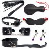 Sex Toy for Couples Adult Games Handcuffs Nipple Clamps Whip Collar Erotic Toy Leath