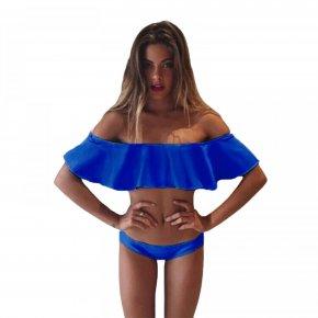 2016 Swimsuit Women Ruffles Sleeve Sexy Brazilian Bikini Set Maillot De Bain Femme