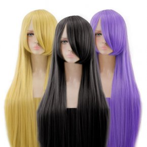 High Quality Harajuku Women 100cm Long Straight Colors Classical Synthetic Part