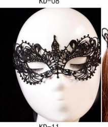 1pc New Lace Mask Hot Mask Cutout Eye sexy queen dress up Halloween costume part