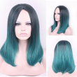 45cm New Colorful Medium Long Natural Straight Central Parting Full Wig For Women