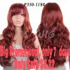 28\'\' Long Black Red Wigs For Black Women Cheap Synthetic Wigs For Black Womne Black