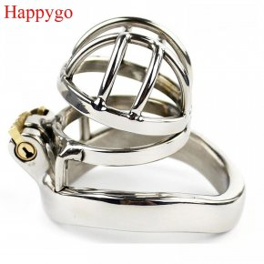 Happygo Stainless Steel Stealth Lock Male Chastity Device,Cock Cage,Virginity Lock