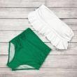 2017 High Waist Swimwear Bikini Vintage Retro Push Up Swimsuit Bathing Suit Green