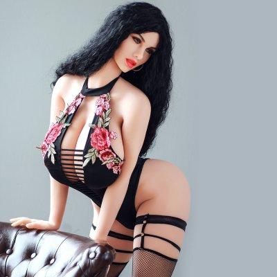 170cm Black Hair Big Boobs Realistic TPE Love Doll