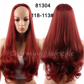 Synthetic Hair Half Wig for Women 3/4 African American Ombre Wigs for Black Women
