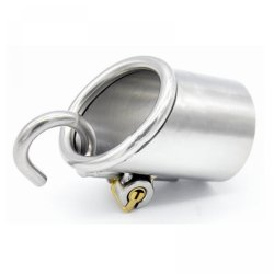 New Arrival PA Lock Male Chastity Belts Stainless Steel Chastity Device For Men