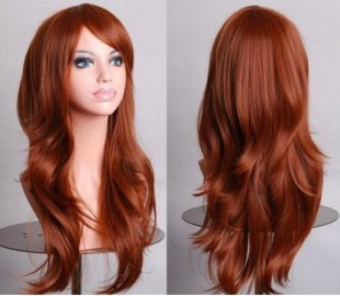 Synthetic wigs 70cm long curly black Anime Cosplay wig fashion womens party hairs