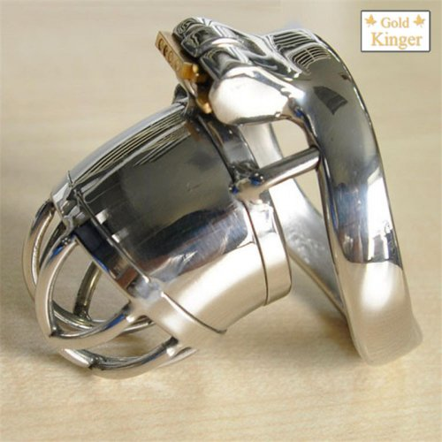 Real Stainless steel Cock Cage Male Chastity Device chastity Belt Penis cage 231