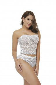 White Eyelash Lace Waist Cincher