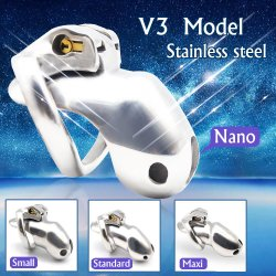 Chaste Bird Nub of HT V3 316 Stainless Steel Male Chastity Device Super Mini Penis Rings Bondage Fetish Cock Belt Adult Sex Toys