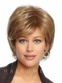 Resistant Synthetic Straight Hair Products Short Blonde Wig Natural Looking Wigs