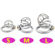 304 Stainless Steel 3 Size Bird Cock Cage Lock Adult Game Metal Male Chastity Belt Device Penis Ring Sex Toys For Men