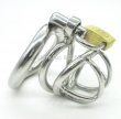 Stainless Steel Super Short Male Chastity Device Adult Cock Cage With arc-shaped