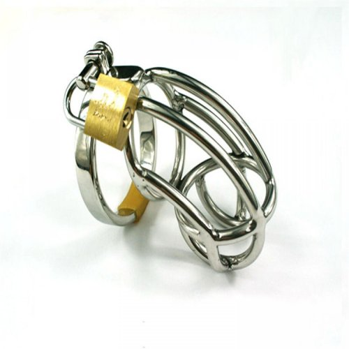 Stainless Steel Male Chastity Device,Cock Cage, Virginity Lock,Penis Ring,Penis
