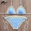 2016 Crochet Swimwear beach suit Sexy Handmade Crochet Bikinis women crochet Swimsui