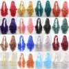 32\'\' long Light Blonde purple Cosplay Wigs woman Curly Wigs 80cm Pink Blue Red Yello