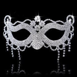 Halloween Masquerade Mask Rhin Masquerade Mask Venice Half Face Mask Wedding Part