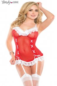 red cheap lingerie