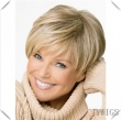 Short Wig Wavy Women Side Parting Full Bangs Party Hair Synthetic Brown Wigs Wholesa
