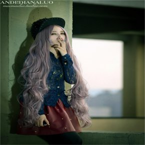 woman sexy 100cm wig cosplay long thick wigs curly taro wig harajuku high qualit