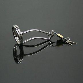 Stainless steel chastity device cock cage penis plug urethral dilators penis locking