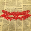 Mysterious Angel red tiger lace party Ball mask maske lace carnaval masks sexy mask