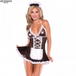 new french maid sexy costumes lace sexy lingerie hot hat costumes t-pant erotic