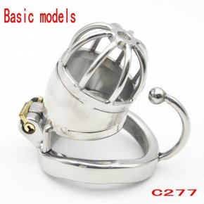 Super Short Male Chastity Device 45MM Adult Cock Cage With arc-shaped Cock Ring