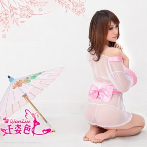 Kimono costume dress lenceria Sexy Lingerie sexy underwear Babydoll Sleep Wear Night