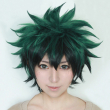My Boku no Hero Academia Izuku Midoriya Short Green Black Synthetic Hair Heat Resistant Cosplay Costume Wig