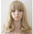 short blonde wig linen wig cosplay short bob wigs with bangs curly resistant cheap