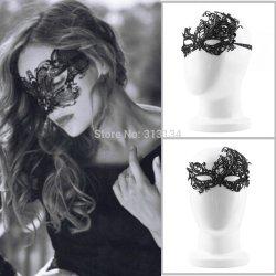 2pcs New Design Women Costume Eye Mask Sexy Lace Eye Mask Venetian Masquerade Ball