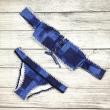 2017 New Cowboy Bandeau Bikinis Women Swimsuit Push Up Strapless Swimwear Crochet