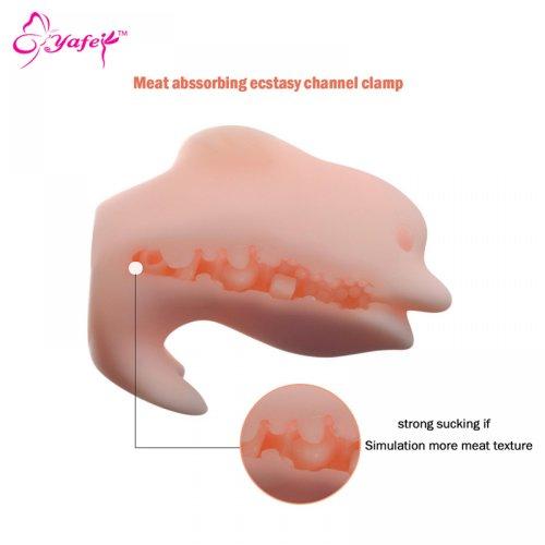 4D realistic dolphin's shape soft masturbator cup, Pussy Artificial Vagina,Pocket