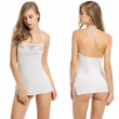 Women Sexy Lingerie Mini Babydoll With Thong Sleepwear Lace Patchwork Halter Nightdress Female Temptation Sling Nightgown