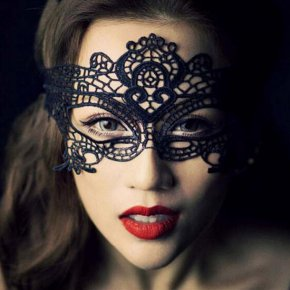 lace mask unshaped mask sexy dance party queen hollow eye#6102
