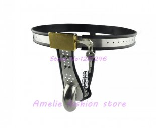 Stainless Steel Male Underwear Chastity Belt with Anal Plug,Chastity Cages,Chastit