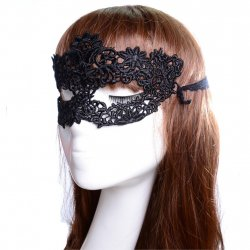 New Arrival Simple Flower Pattern Black Hollow Women Lace Mask Sexy Party Masks