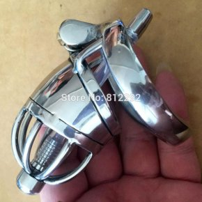 Male Chastity Device Adult Cock Cage With Urethral Catheter BDSM Sex Toys Stainless