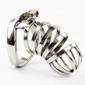 Latest Design Male Chastity Device Peins Lock With arc-shaped Cock Ring BDSM Sex