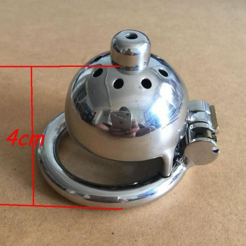 Male CB chastity device with catheter stainless steel metal catheter penis lock
