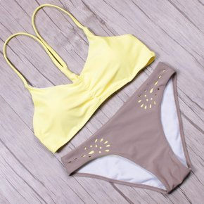 NAKIAEOI Sexy Bikinis Women Swimsuit Swimwear 2017 New Bandage Brazilian Bikini