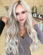 "22"" Long Wavy Blonde Beautiful Synthetic Lace Wigs"