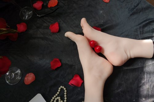 Newest cloning silicone Pussy female women foot Feet Soldier fetish leg model footfe