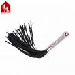 Davidsource 380mm Metal Plug Handle Horsetail Leather Whip Master lash Slap Spanking