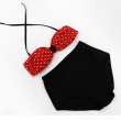 2017 High Waist Swimsuit Bathing Suit Women Swimwear Polka Dot Bandeau Bikini Set